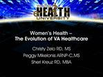 Women s Health    The Evolution of VA Healthcare