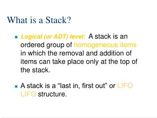 What is a Stack