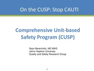 Comprehensive Unit-based Safety Program CUSP