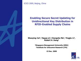 Enabling Secure Secret Updating for Unidirectional Key Distribution in  RFID-Enabled Supply Chains