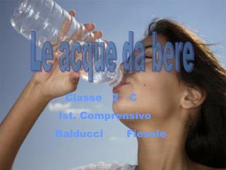 Le acque da bere