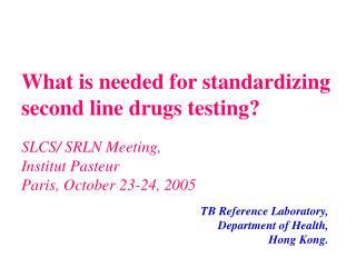SLCS/ SRLN Meeting