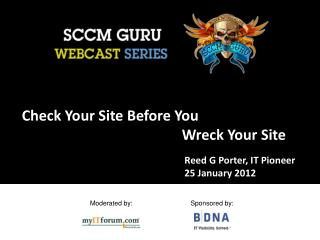 Check Your Site Before You       Wreck Your Site