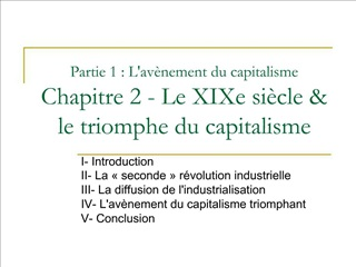 Partie 1 : Lav nement du capitalisme Chapitre 2 - Le XIXe si cle  le triomphe du capitalisme