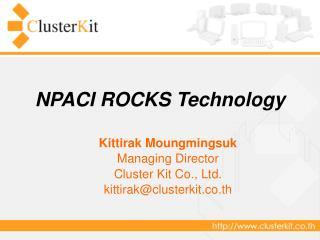 NPACI ROCKS Technology