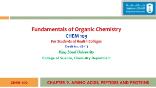 Protein Methods; Fundamentals of Protein Structure