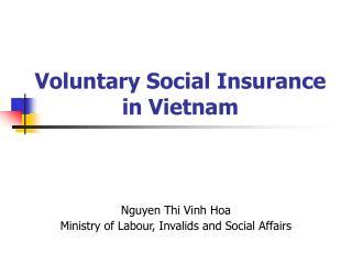 Voluntary Social Insurance in Vietnam