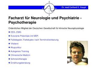 Facharzt f r Neurologie und Psychiatrie - Psychotherapie