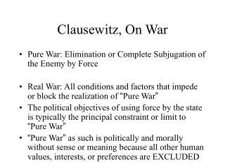 Clausewitz, On War