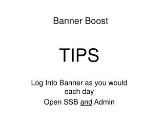 Banner Boost