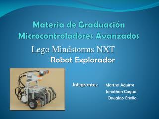 Materia de Graduaci n Microcontroladores Avanzados