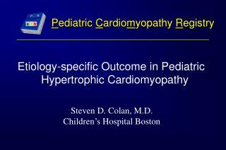 Pediatric Cardiomyopathy Registry