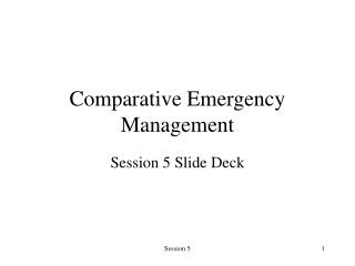 Comparative Emergency Management