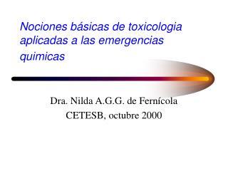 Nociones b sicas de toxicologia  aplicadas a las emergencias quimicas