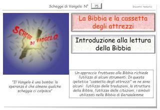 La Bibbia e la cassetta degli attrezzi