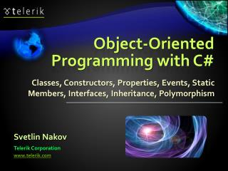 Object-Oriented Programming with C