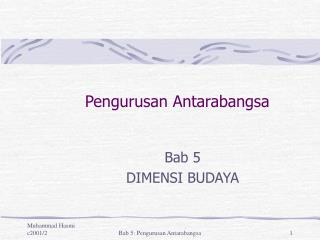 Pengurusan Antarabangsa