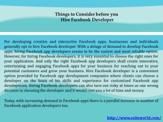 Hire Facebook App Developer