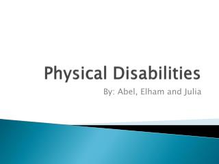 physical disabilities health impairments and adhd presentation Attention deficit hyperactivity disorder physical disabilities | instructional strategies some students with physical disabilities will have difficulty not.