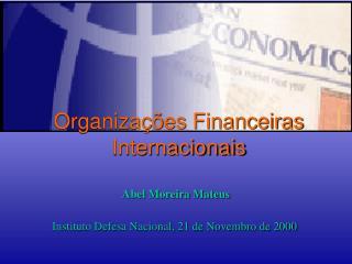 Organiza  es Financeiras Internacionais