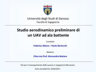 Universit  degli Studi di Genova Facolt  di Ingegneria