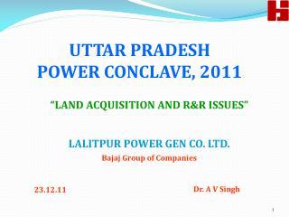 UTTAR PRADESH  POWER CONCLAVE, 2011