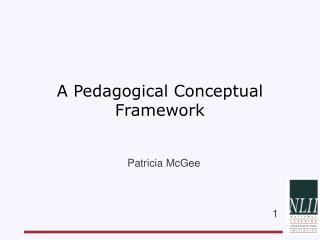 A Pedagogical Conceptual Framework