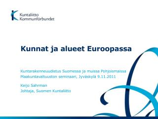 Kunnat ja alueet Euroopassa