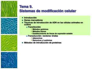 Tema 9. Sistemas de modificaci n celular