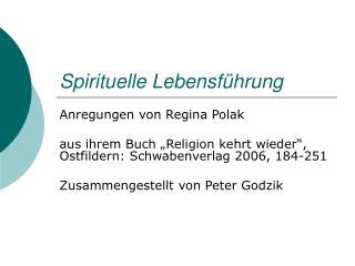 Spirituelle Lebensf hrung