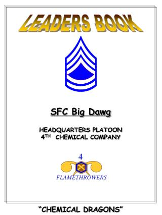 SFC Big Dawg  HEADQUARTERS PLATOON 4TH  CHEMICAL COMPANY           CHEMICAL DRAGONS