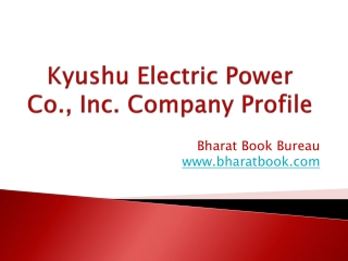 Kyushu Electric Power Co., Inc. Company Profile