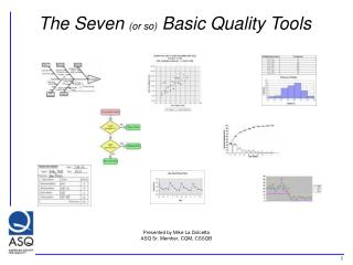 The Seven or so Basic Quality Tools