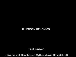 ALLERGEN GENOMICS