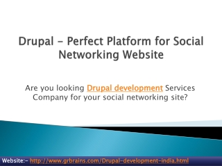 Drupal - Perfect Platform for Social Networking Website