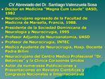 CV Abreviado del Dr. Santiago Valenzuela Sosa