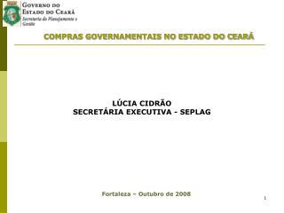 COMPRAS GOVERNAMENTAIS NO ESTADO DO CEAR