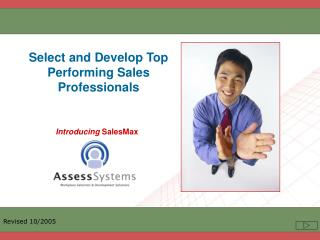 Select and Develop Top Performing Sales Professionals
