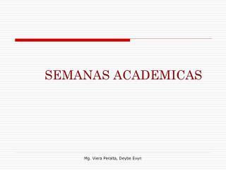 SEMANAS ACADEMICAS