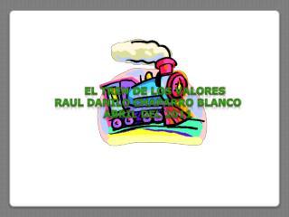 EL TREN DE LOS VALORES RAUL DANILO CHAPARRO BLANCO Abril del 2011