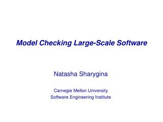 Model Checking Large-Scale Software