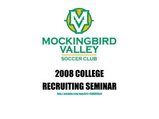 Mockingbird Recruiting Seminar 2007 presentation