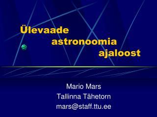 levaade      astronoomia      ajaloost