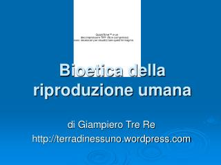 Bioetica della riproduzione umana
