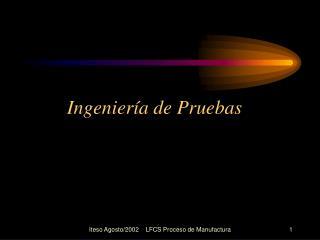 Ingenier a de Pruebas