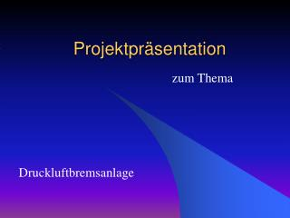 Projektpr sentation