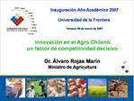 Inauguraci n A o Acad mico 2007  Universidad de la Frontera   Temuco, 09 de marzo de 2007