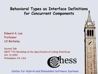 Behavioral Types as Interface Definitions for Concurrent Components