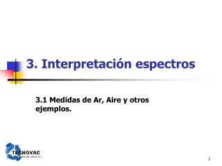 3. Interpretaci n espectros