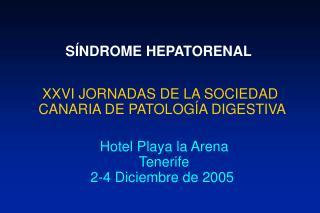 S NDROME HEPATORENAL